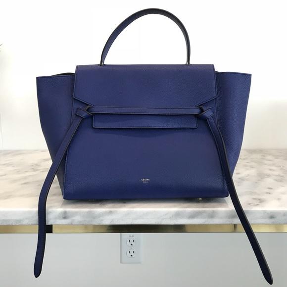 3213dd942bf1 Celine Handbags - Celine Mini Belt Bag - Bleu Royal